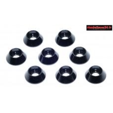 Rondelles cuvettes hautes noires pour vis M3 TC ( 8 ) : m1587