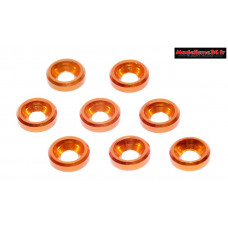 Rondelles cuvettes alu 3mm orange ( 8 ) : m1589