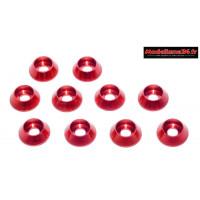 Rondelles cuvettes rouges pour vis M3 TC ( 10 ) : m1597