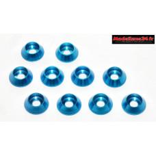 Rondelles cuvettes hautes bleues pour vis M3 TC ( 10 ) : m1598