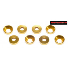 Rondelles cuvettes alu 3mm or ( 8 ) : m1585