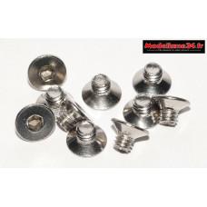 Vis CHC M4x5 têtes fraisées inoxydable ( 10pcs ) : m1445
