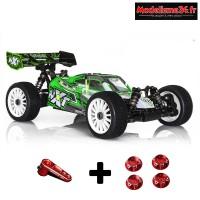 Buggy 1/8 HobbyTech Spirit NXT EP 2.0 6S RTR + kit bonus offert