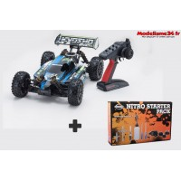 Kyosho Inferno Neo 3.0 readyset T1 bleue + kit de demarrage - K.33012T1COMBO